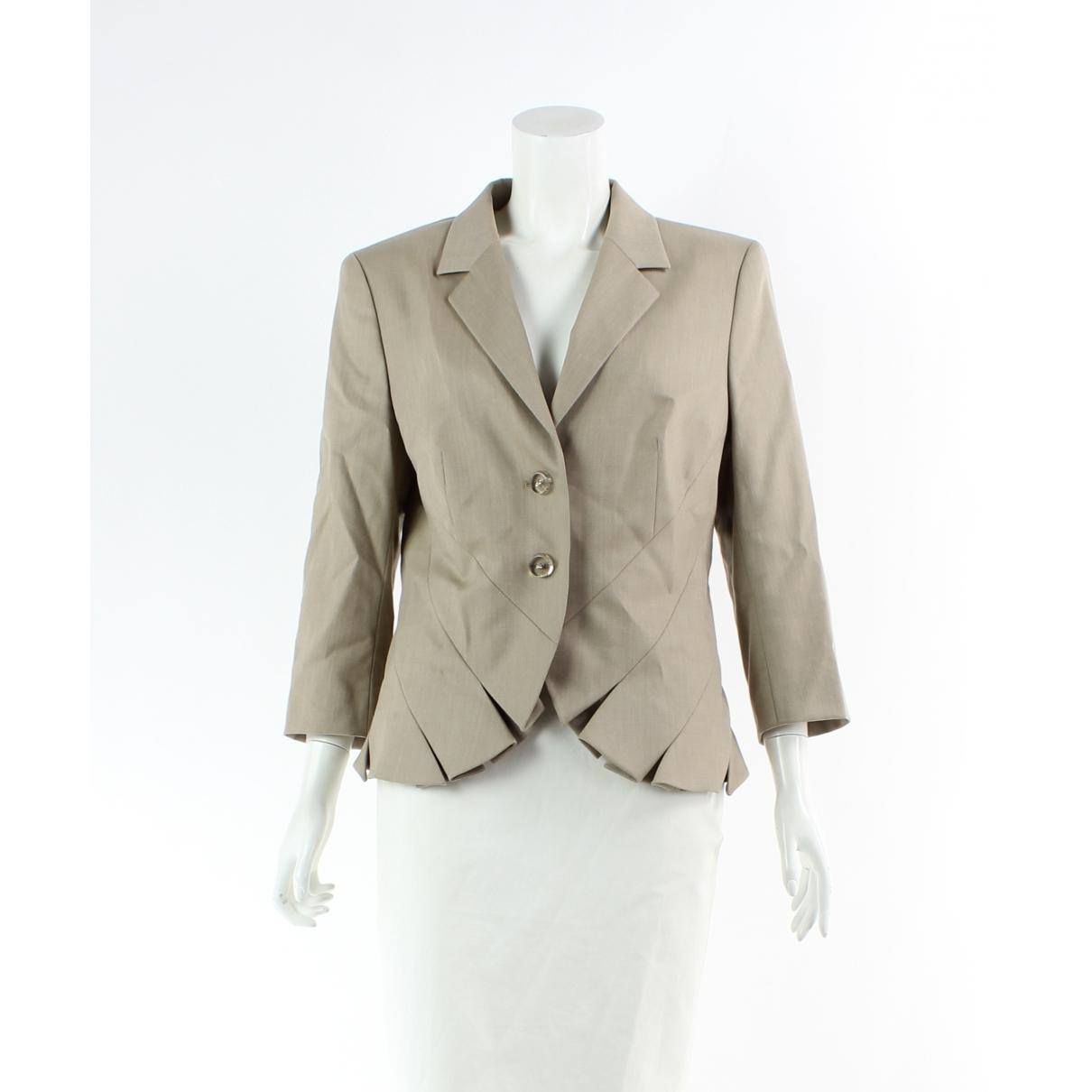Autre Marque \N Beige Wool jacket for Women 40 FR