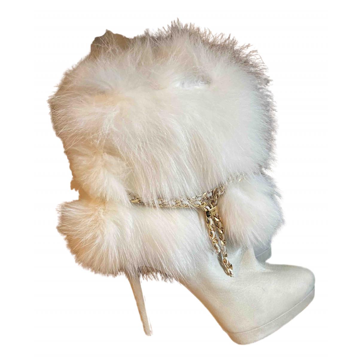 Le Silla - Boots   pour femme en cuir - blanc