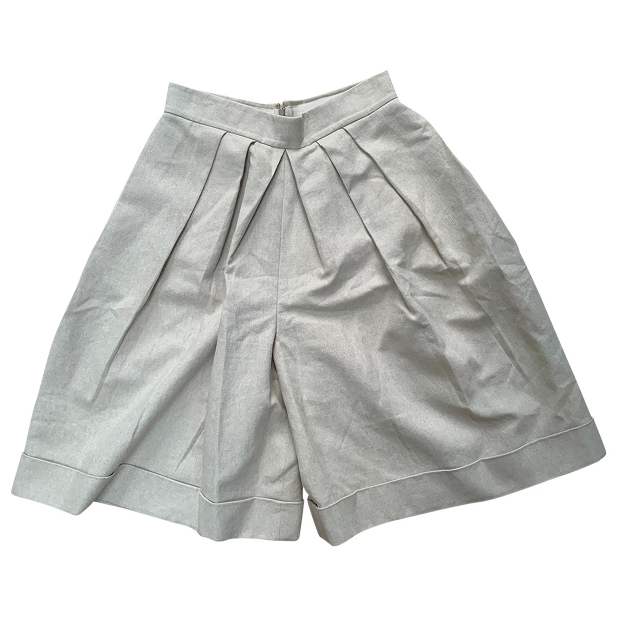 Delpozo \N Shorts in  Beige Leinen