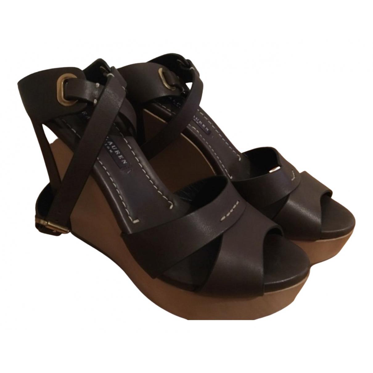 Sandalias de Cuero Ralph Lauren Collection