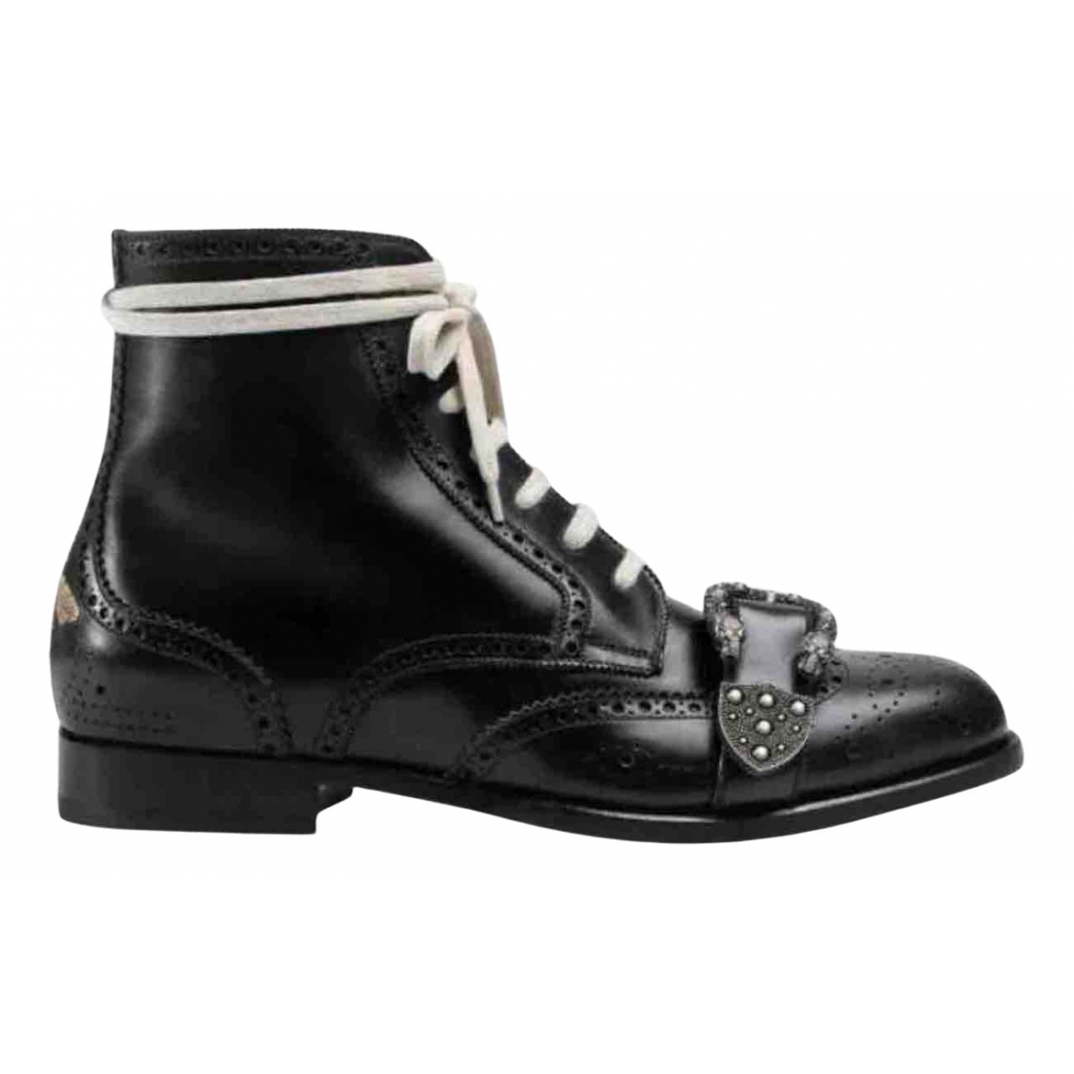 Gucci Queercore Black Leather Boots for Men 9 UK