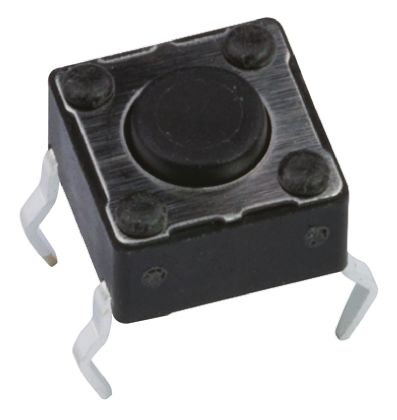 APEM Black Button Tactile Switch, Single Pole Single Throw (SPST) 50 mA @ 12 V dc 6mm (20)