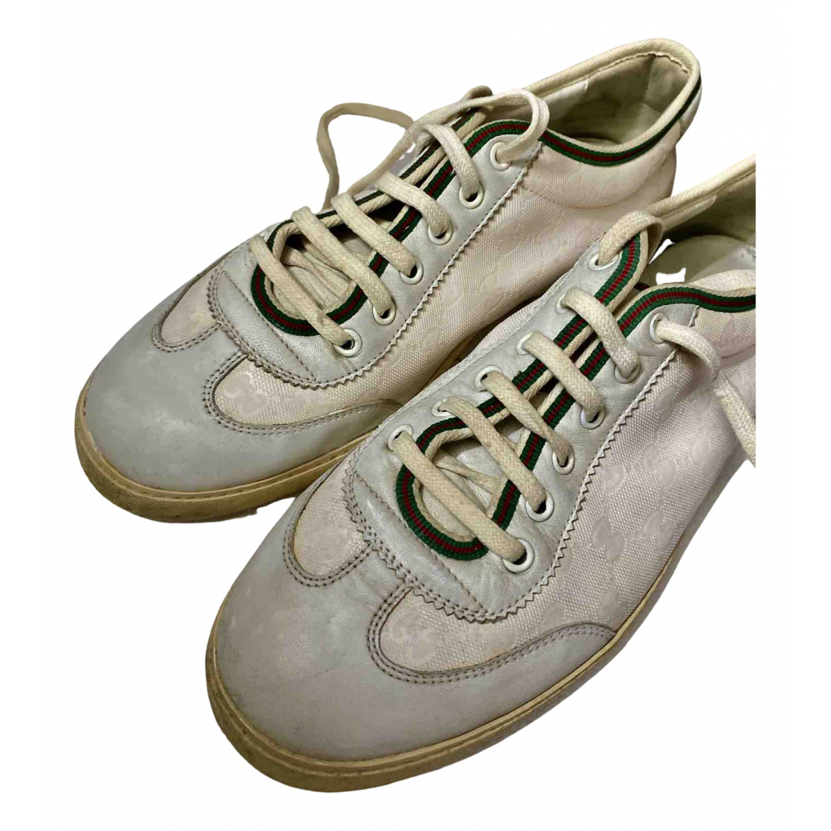 Gucci N White Patent leather Lace ups for Men 8 UK