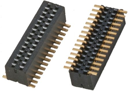 Samtec , CLE 0.8mm Pitch 30 Way 2 Row Straight PCB Socket, Surface Mount, Solder Termination