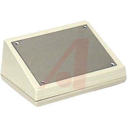 Pactec KEU, Sloped Front, ABS, 178.14 x 127.37 x 73.56mm Desktop Enclosure