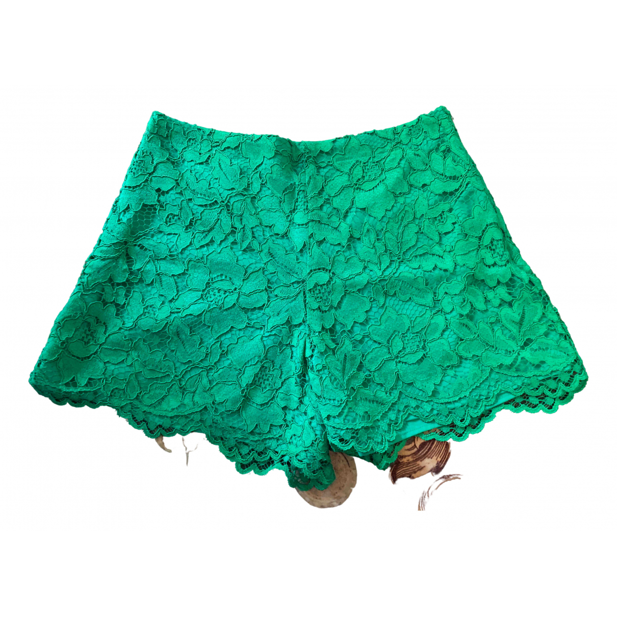 Sandro \N Shorts in  Gruen Polyester