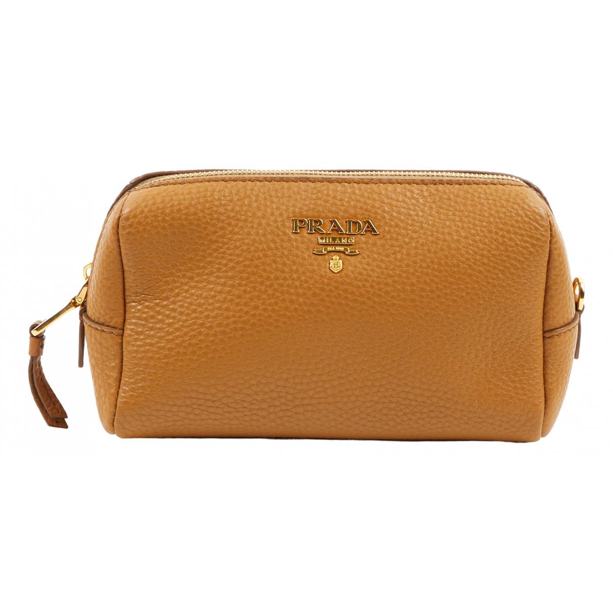 Prada N Camel Leather Clutch bag for Women N
