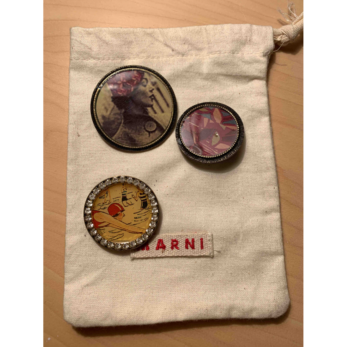 Marni - Broche   pour femme en metal - multicolore