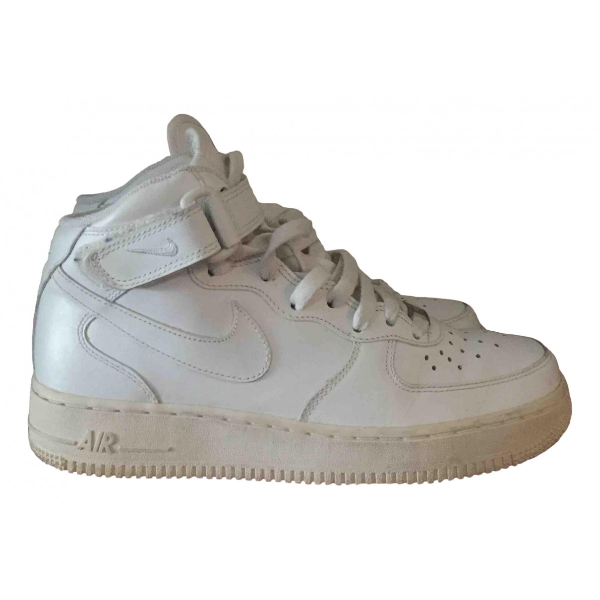 Nike Air Force 1 White Leather Trainers for Women 7 US