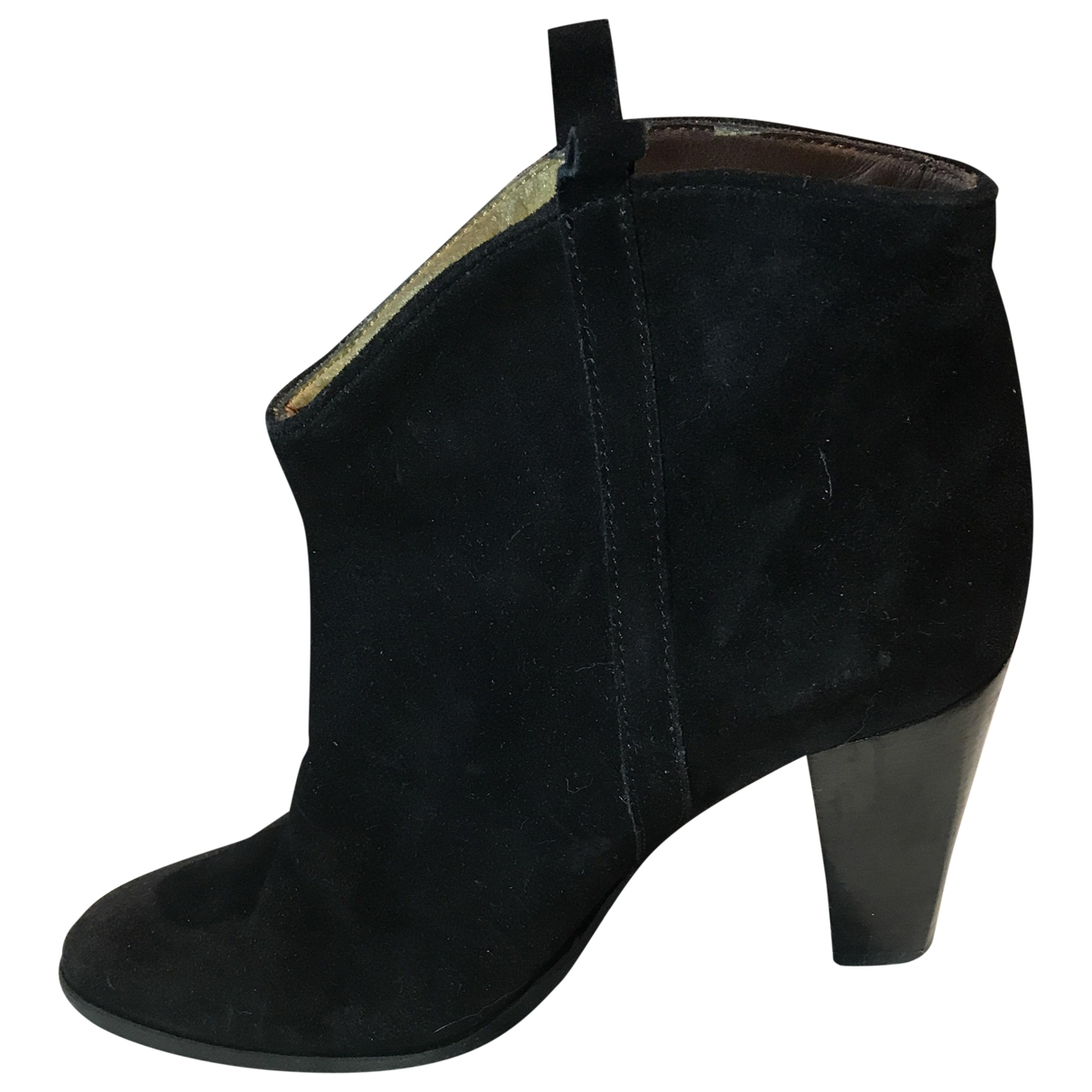 Isabel Marant Etoile \N Black Suede Ankle boots for Women 39 EU