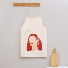 Girl Print Apron