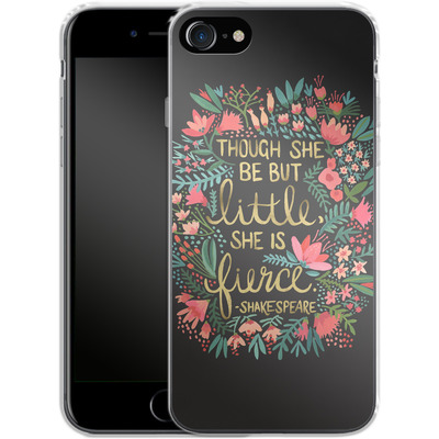 Apple iPhone 8 Silikon Handyhuelle - Little But Fierce Charcoal von Cat Coquillette