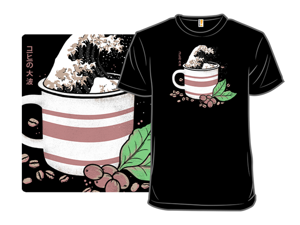 Great Wave Of Coffee T Shirt