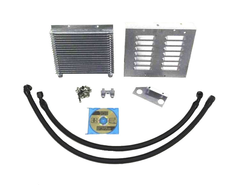 Evolution Racewerks BM-COOL002PALU1 Silver Sports Series Oil Cooler Upgrade Kit with Aluminum Shroud Ducting BMW 1 Series M 11-12