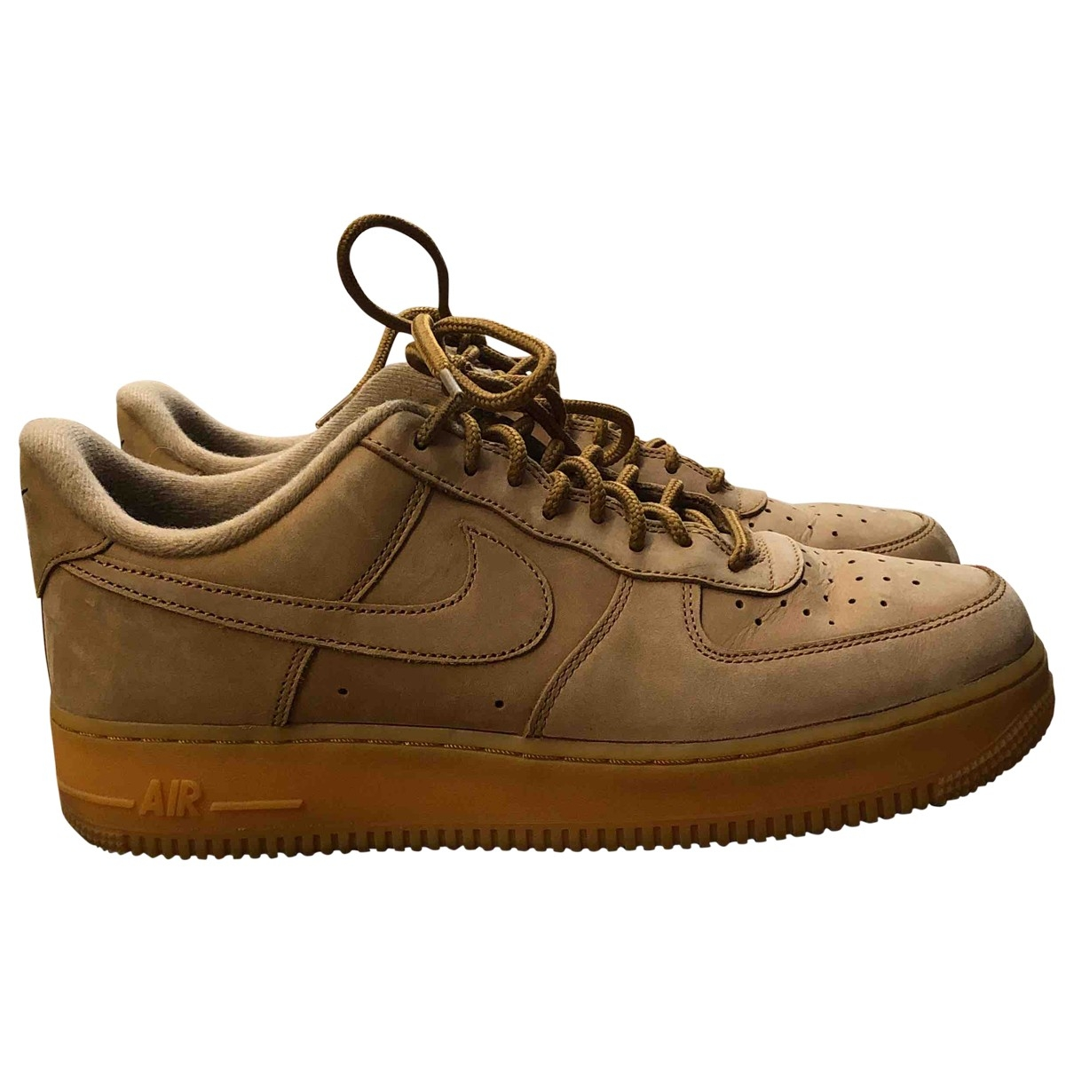 Nike Air Force 1 Camel Leather Trainers for Men 42.5 EU