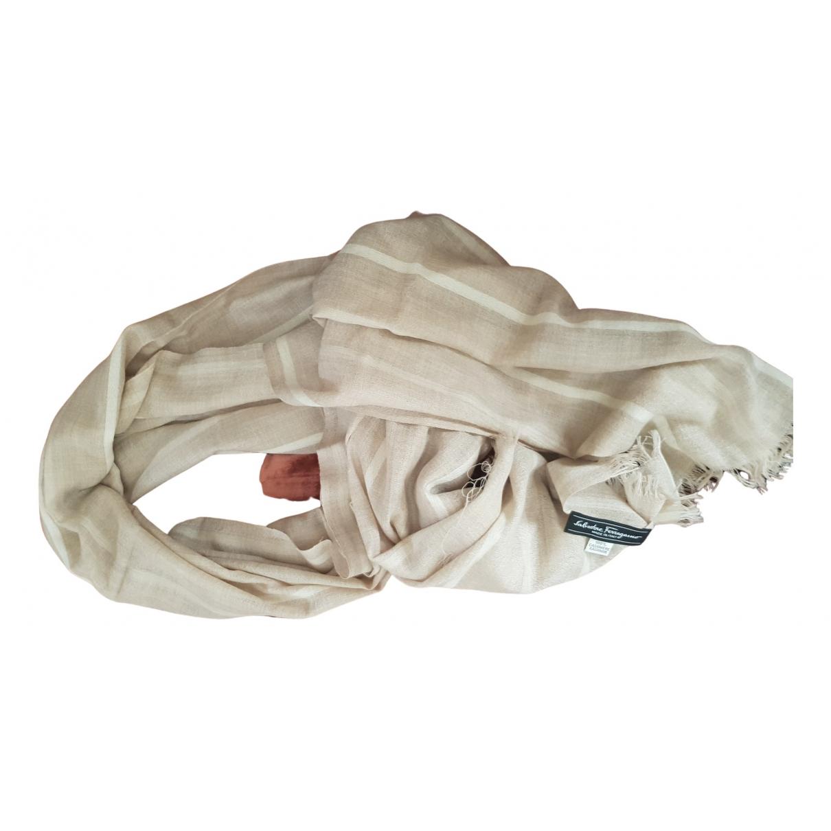 Salvatore Ferragamo N Beige Cashmere scarf & pocket squares for Men N