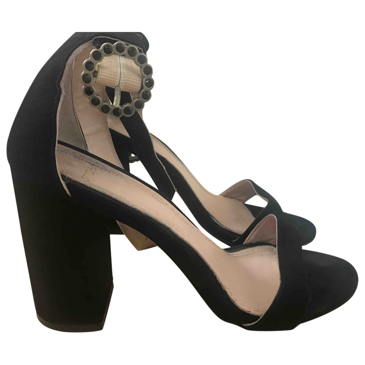 Maje \N Black Suede Sandals for Women 37 EU