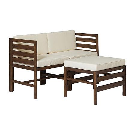 Walker Edison 3-pc. Patio Lounge Set, One Size , Brown