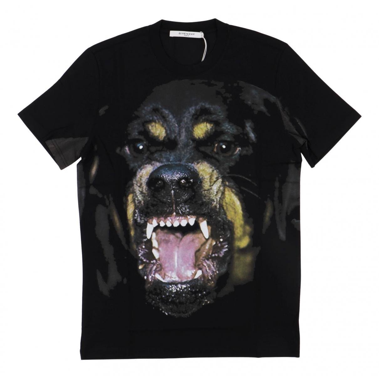 Givenchy N Black Cotton T-shirts for Men XL International