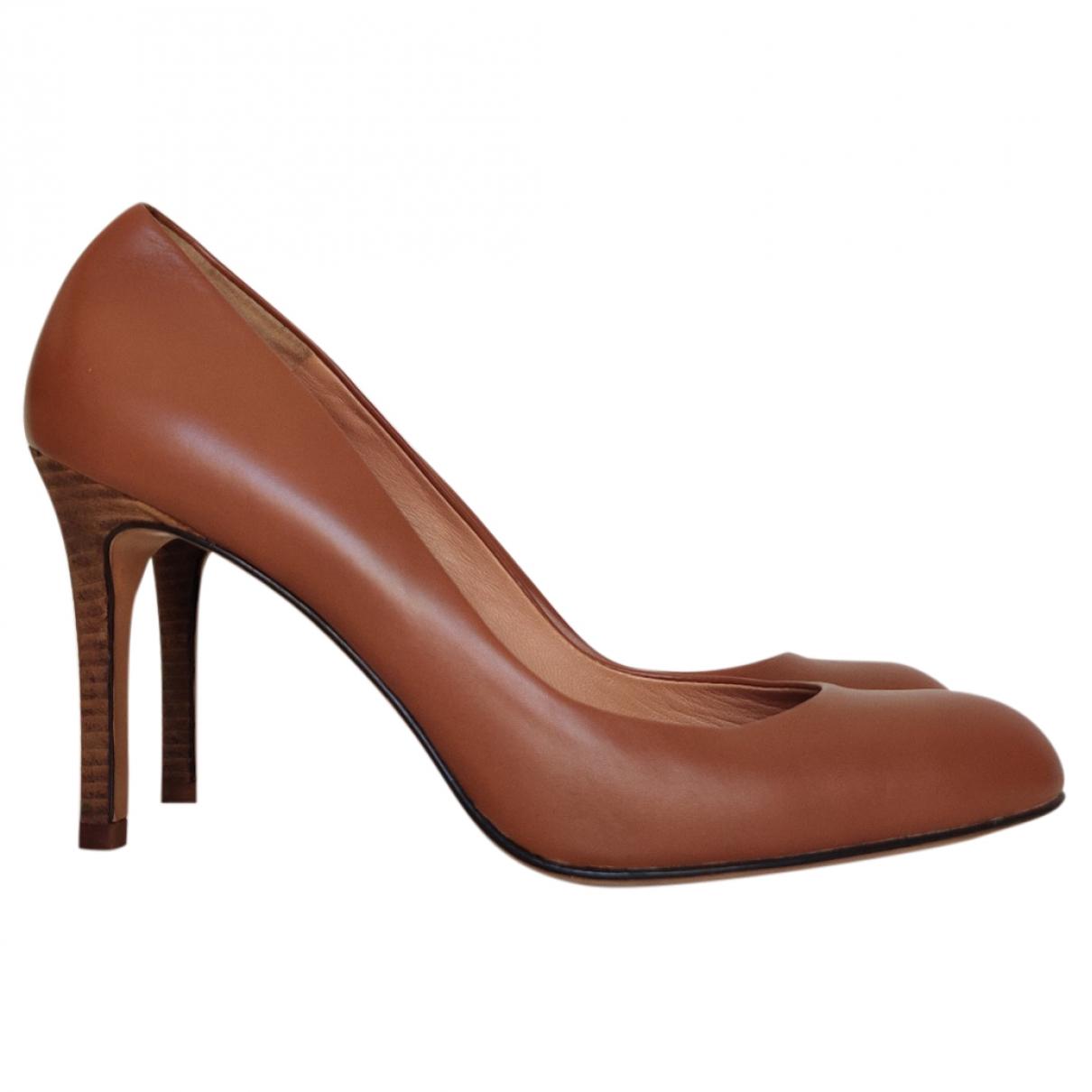 Ann Taylor - Escarpins   pour femme en cuir - marron