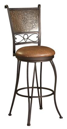 222-847 Bronze with Muted Copper Stamped Back Bar Stool  30 Seat
