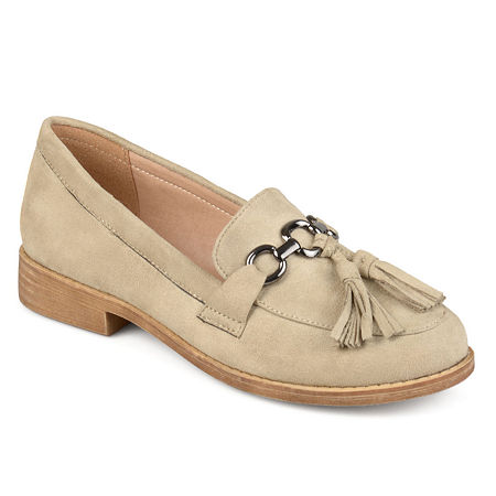 Journee Collection Womens Capri Loafers, 7 1/2 Medium, Gray