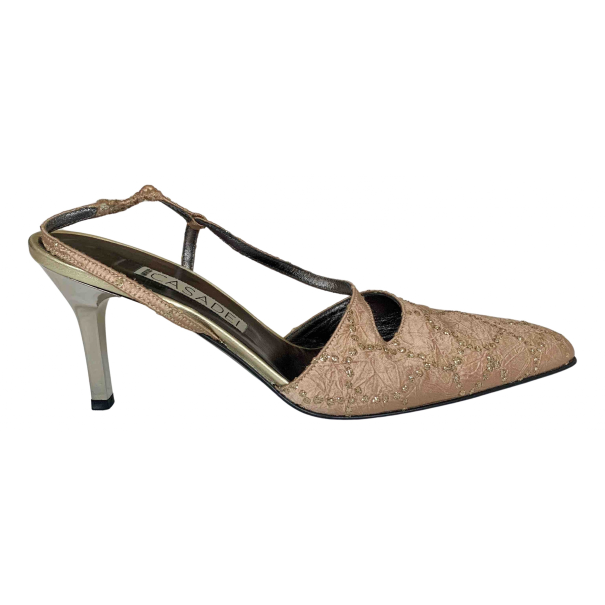 Casadei \N Pink Glitter Heels for Women 38 IT