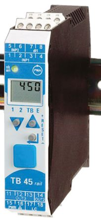 P.M.A TB 45 PID Temperature Controller, 99 x 22.5mm, 2 Output Relay, 18  30 V ac, 18  31 V dc Supply