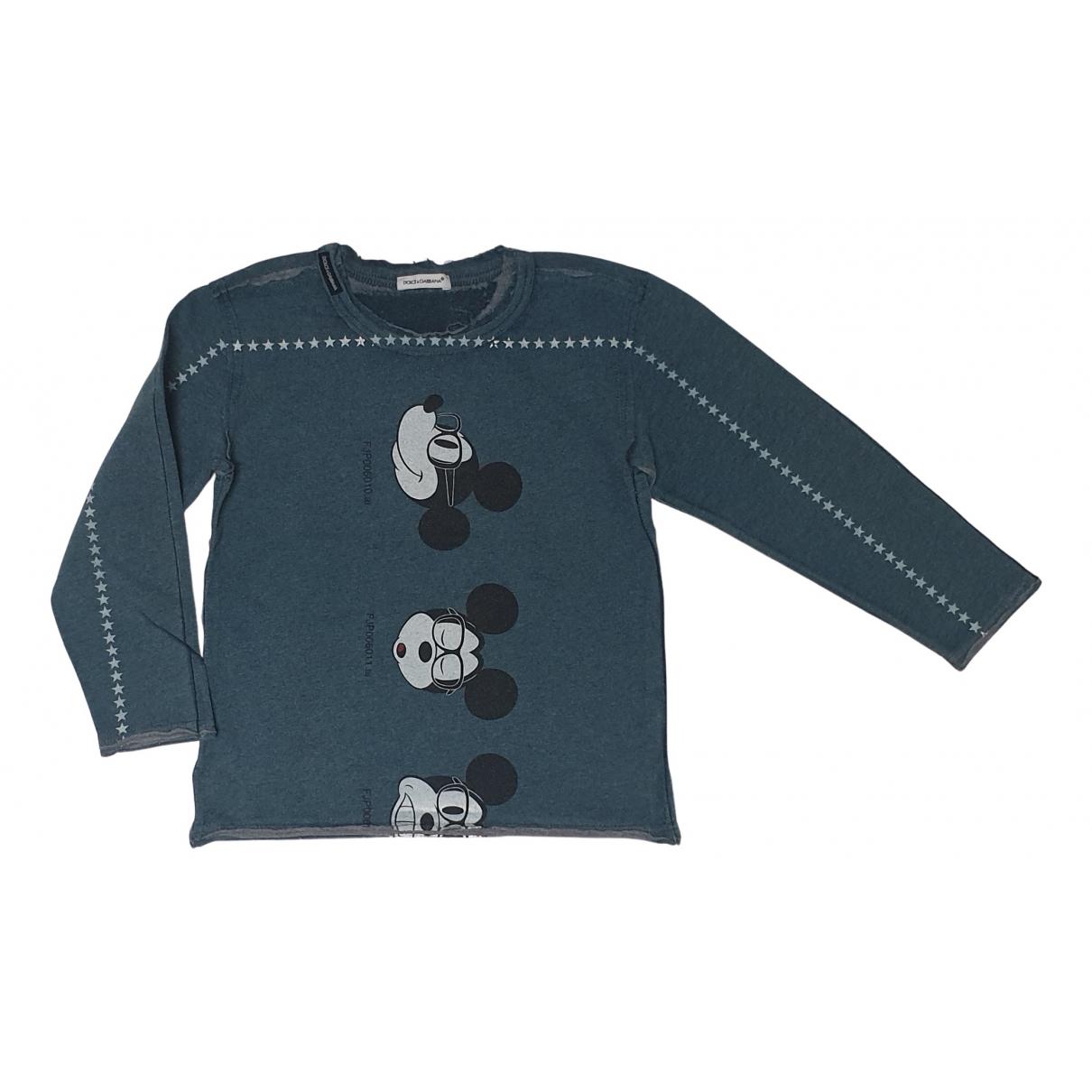 Dolce & Gabbana - Top   pour enfant en coton - bleu