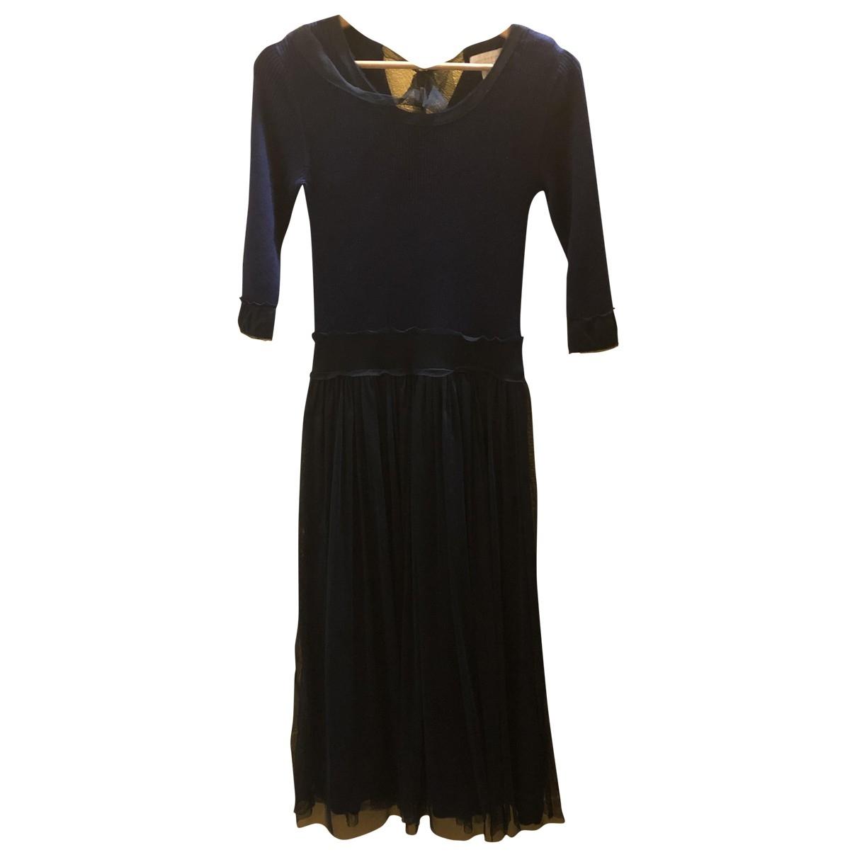 Hoss Intropia \N Kleid in  Blau Wolle