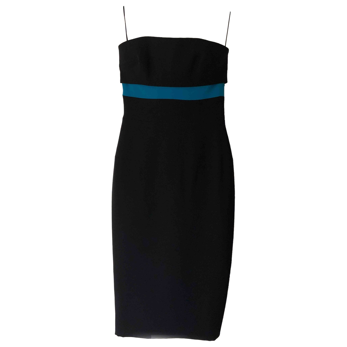 Victoria Beckham \N Black Cotton - elasthane dress for Women 10 UK