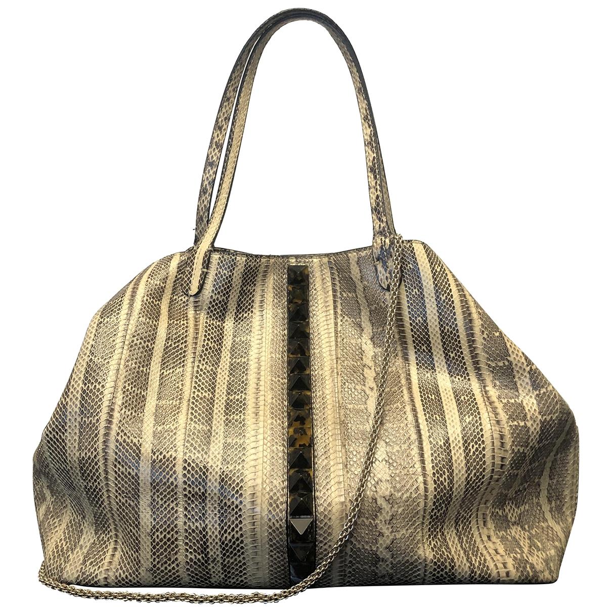 Valentino Garavani \N Beige Python handbag for Women \N