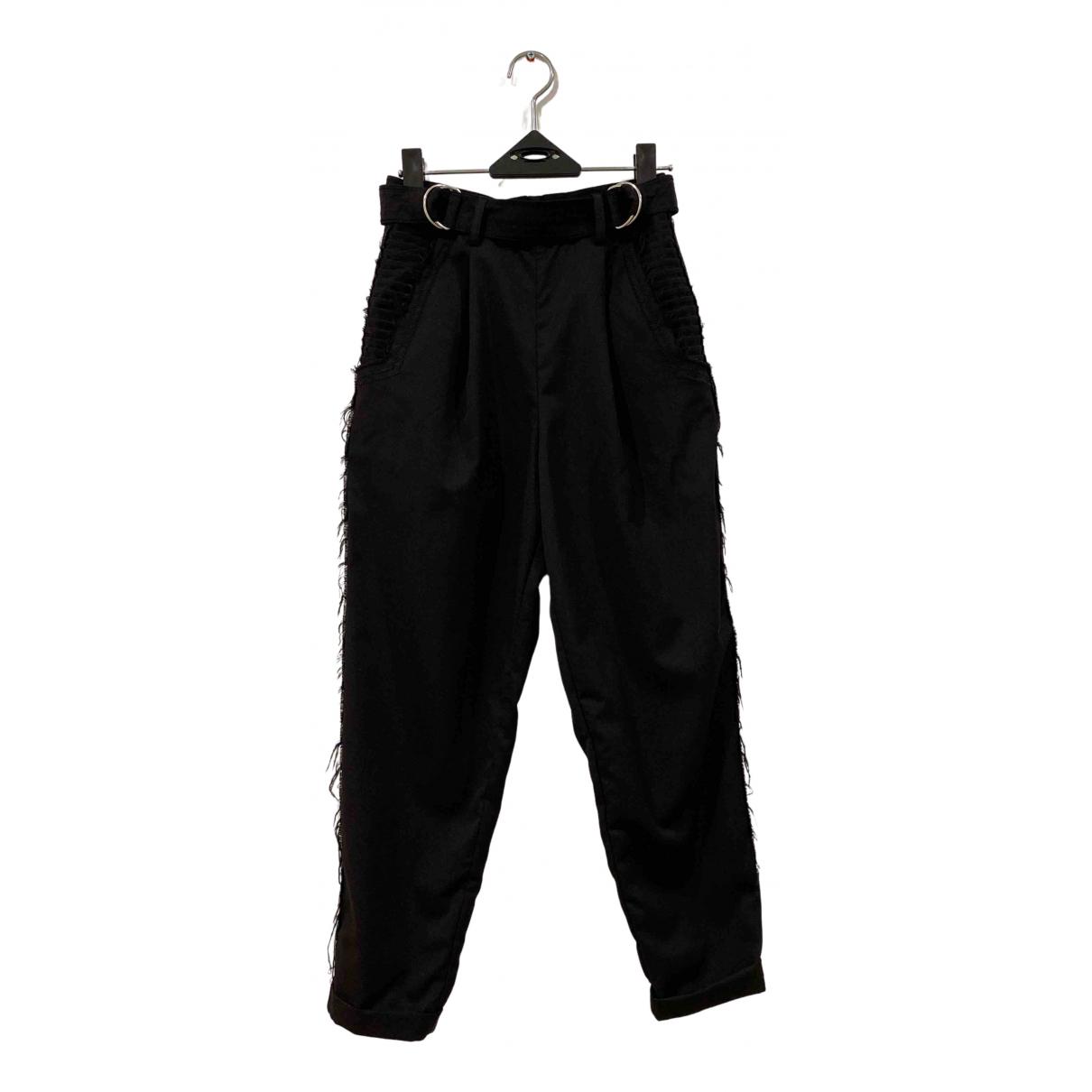 Aje \N Black Wool Trousers for Women 6 UK