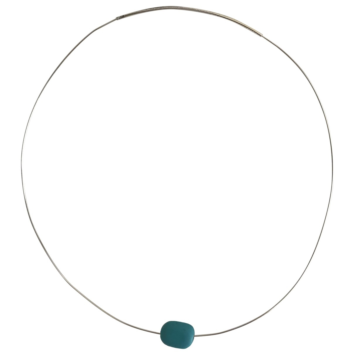 Non Signé / Unsigned Turquoises Silver Silver necklace for Women \N