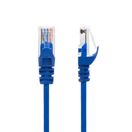 Slim Cat6A 28AWG UTP Ethernet Network Cable CMR/FT4 Blue- PrimeCables� GoSlim - 5ft