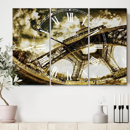 CLM14348-3P Paris Eiffel Towerin Sunny Winter
