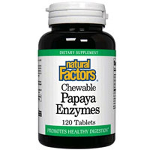Chewable Papaya Enzymes 60 Tabs by Natural Factors