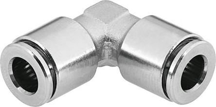 Festo Pneumatic Elbow Tube-to-Tube Adapter Push In 10 mm to Push In 10 mm