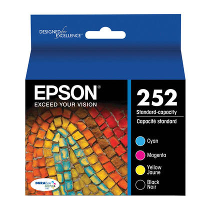 Epson 252 T252120-BCS Original Black and Color Ink Cartridge Combo