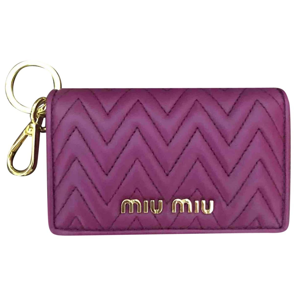 Miu Miu - Petite maroquinerie   pour femme en cuir - violet