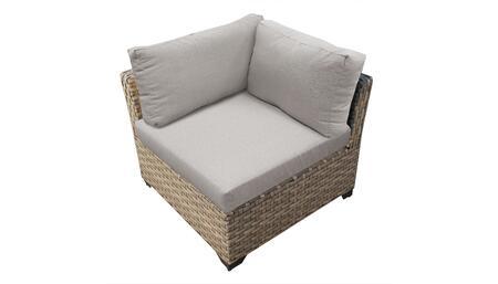 TKC015b-CS-ASH Corner Chair - Beige and Ash