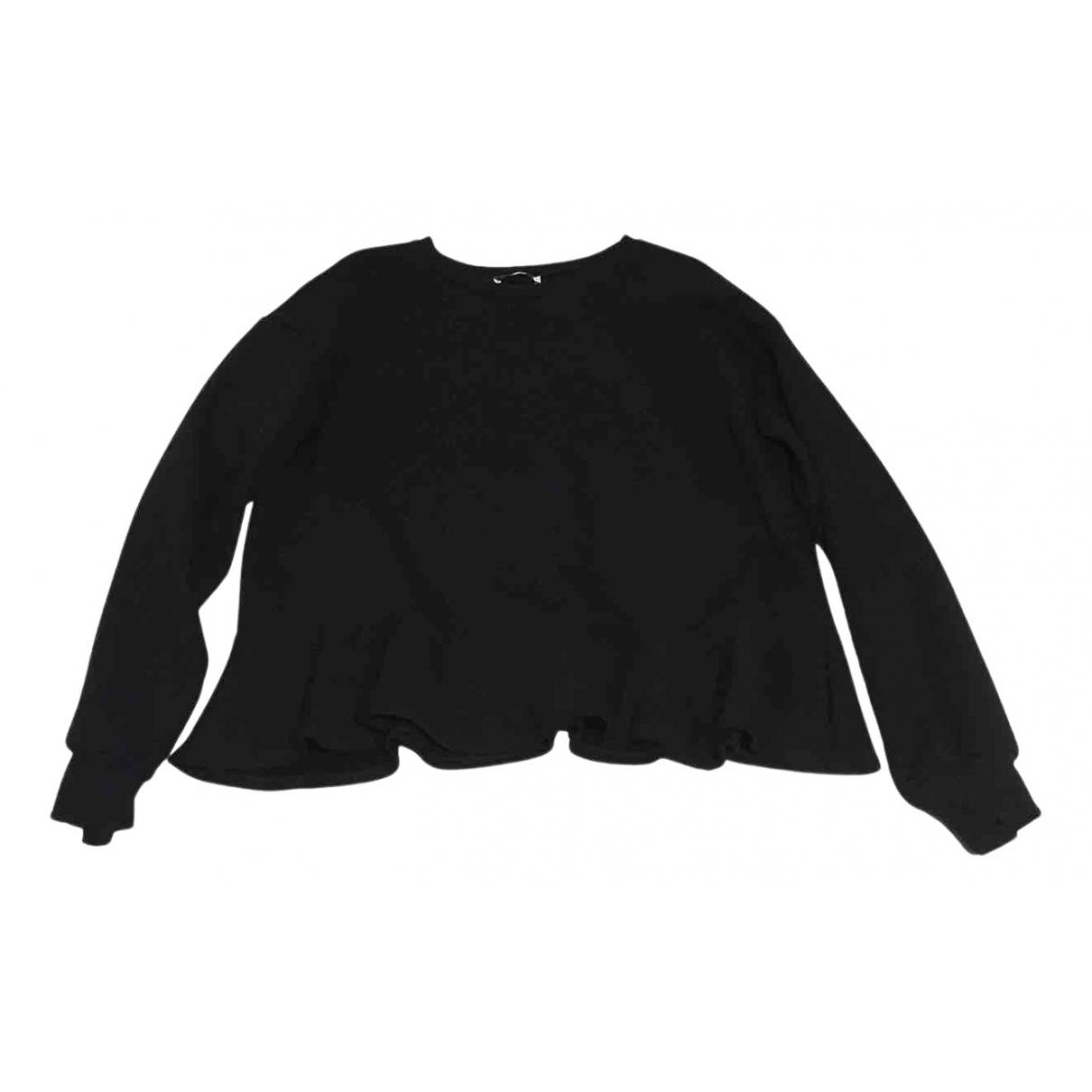 Zara N Black Cotton Knitwear for Women XL International