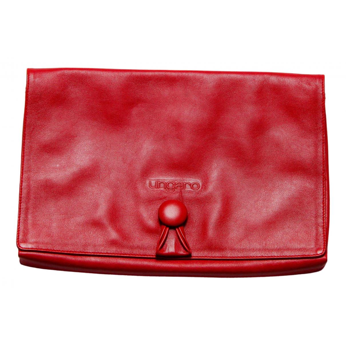 Emanuel Ungaro \N Clutch in  Rot Leder