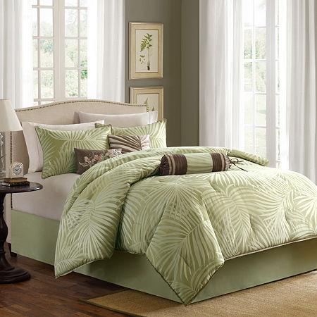 Bermuda 7-pc. Comforter Set, One Size , Green