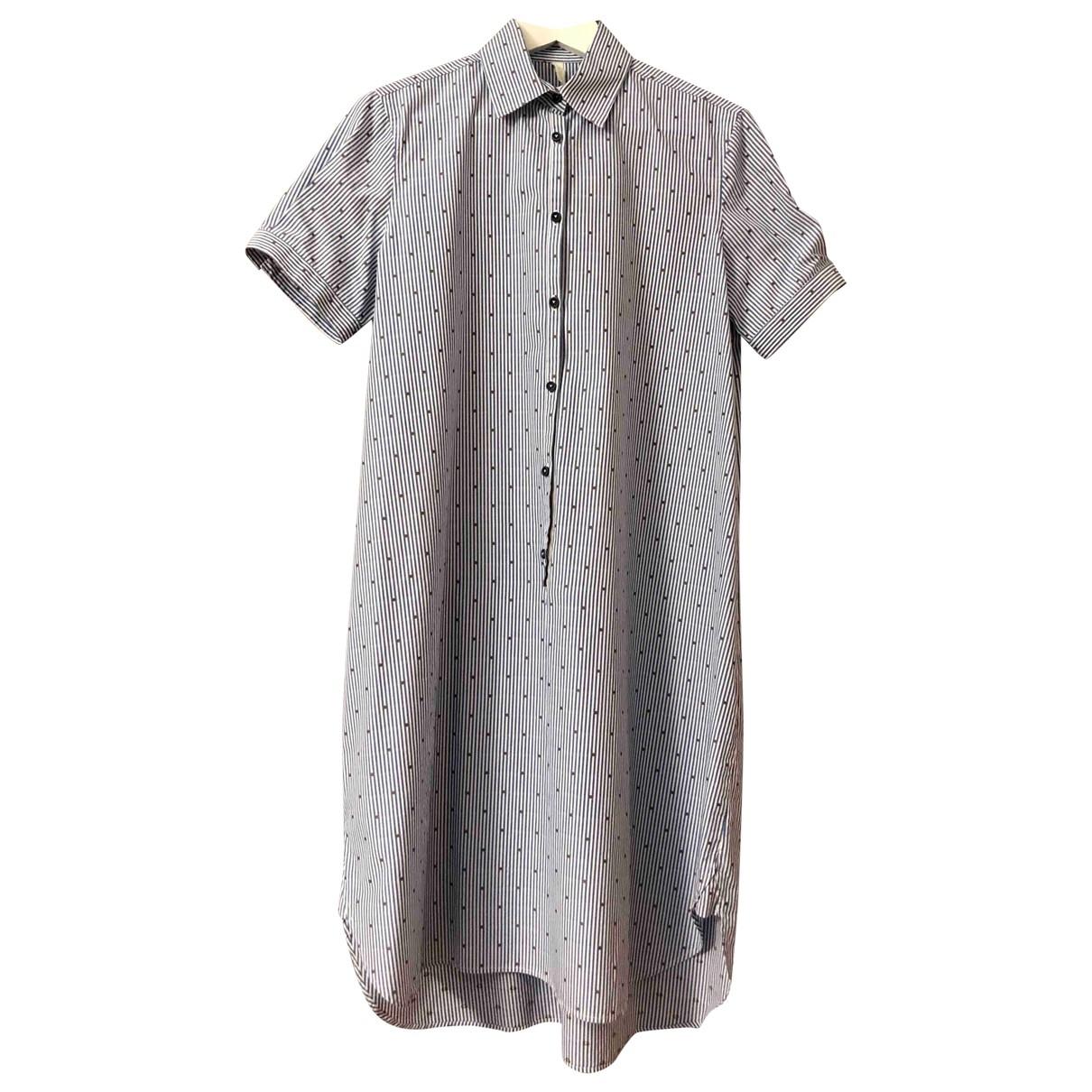 Aglini \N Kleid in  Blau Baumwolle