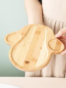 1pc Kids Cartoon Design Wooden Plate