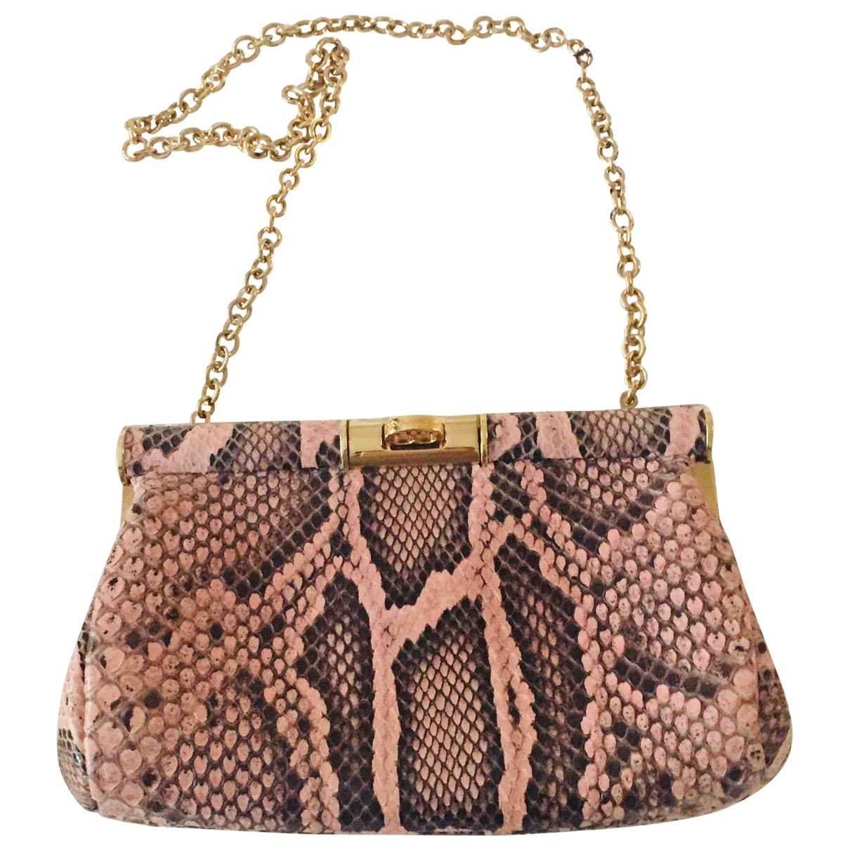 Dolce & Gabbana \N Pink Python Clutch bag for Women \N