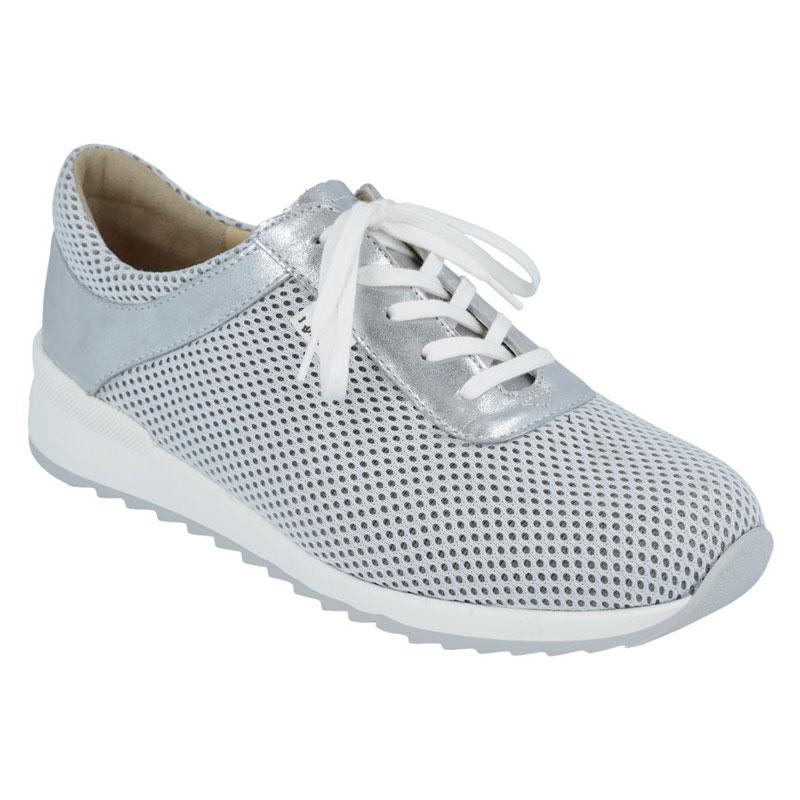Finn Comfort Cerritos White/Silver Textile 7 Uk