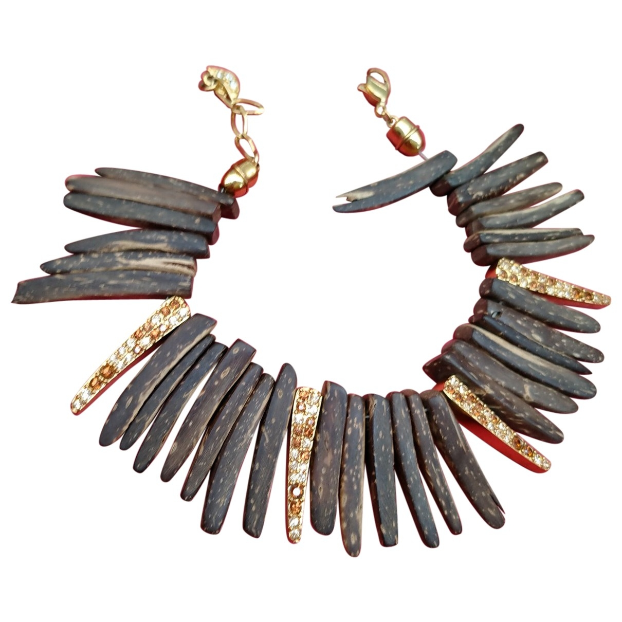 Swarovski - Bracelet   pour femme en bois - marron