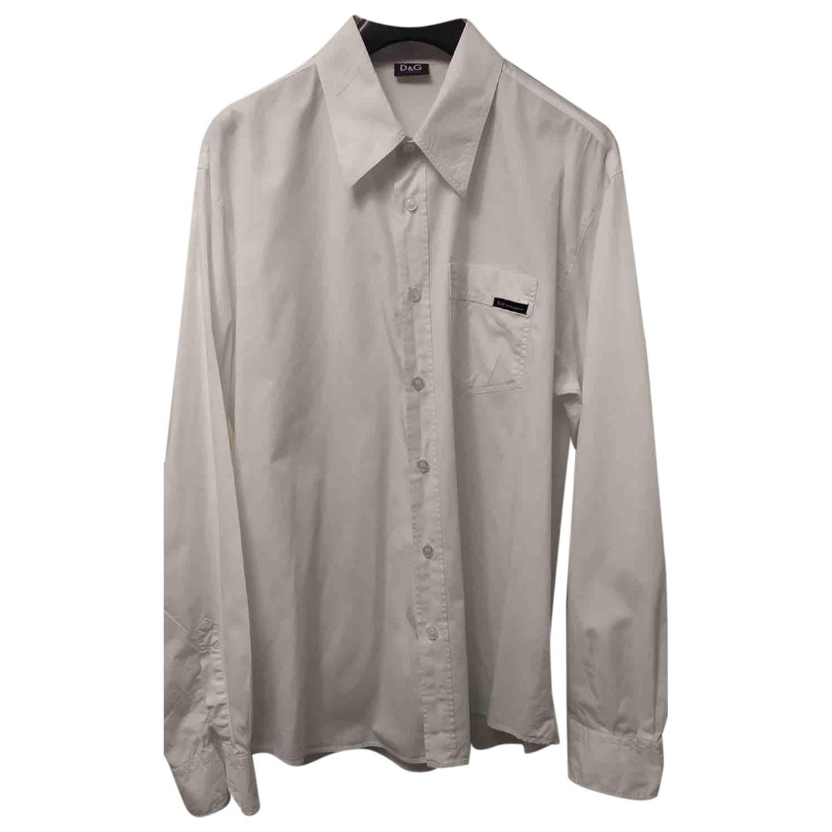 Dolce & Gabbana N White Cotton Shirts for Men XL International